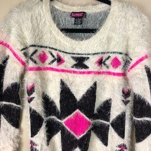 Cozy Comfy fuzzy Aztec sweater